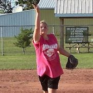 A Girl Pitching